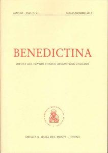 Benedictina, anno 60 fasc 2 luglio dicembre 2013