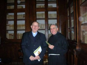 Giustino Farnedi osb e Padre Bernardo Commodi ofm