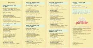 Programma San Benigno di Fruttuaria 2006 - comunicazioni