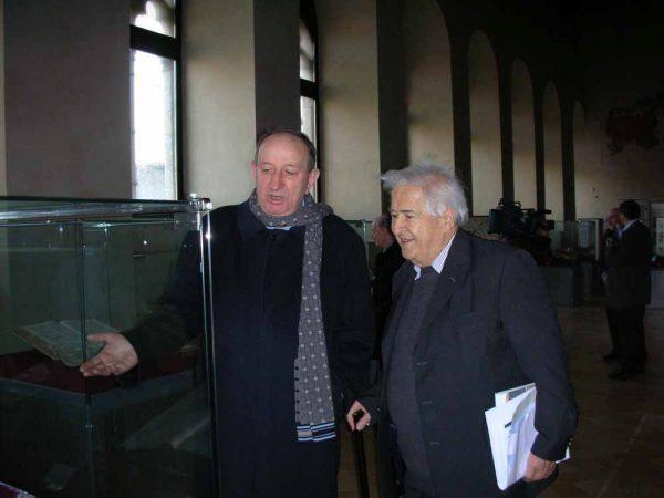 Giustino farnedi OSB e Roberto Abbondanza